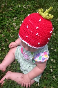 Strawberry Beanie - Crochet for Babies