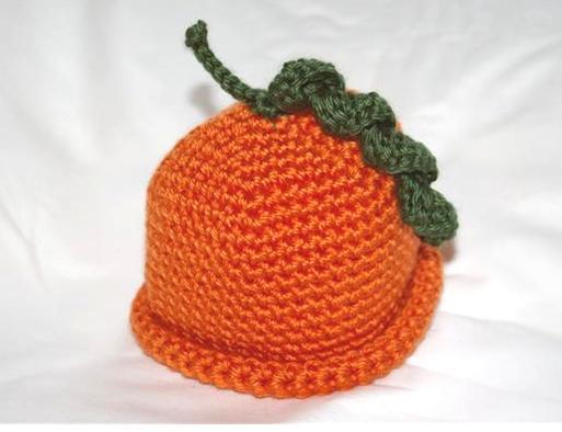 Crochet Pumpkin Beanie - Crochet for Babies